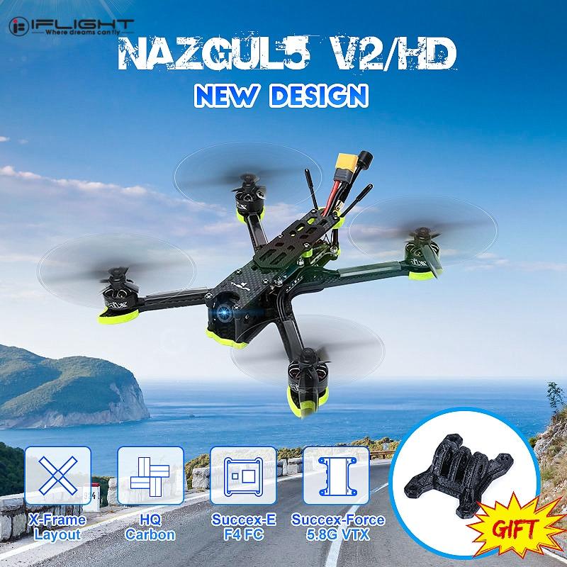 iFlight Nazgul5 V2 Nazgul5 HD 5Inch RC FPV Racing Drone w/ Racecam R1 Mini Camera SucceX-E F4 Flight controller 45A BLHeli_S ESC