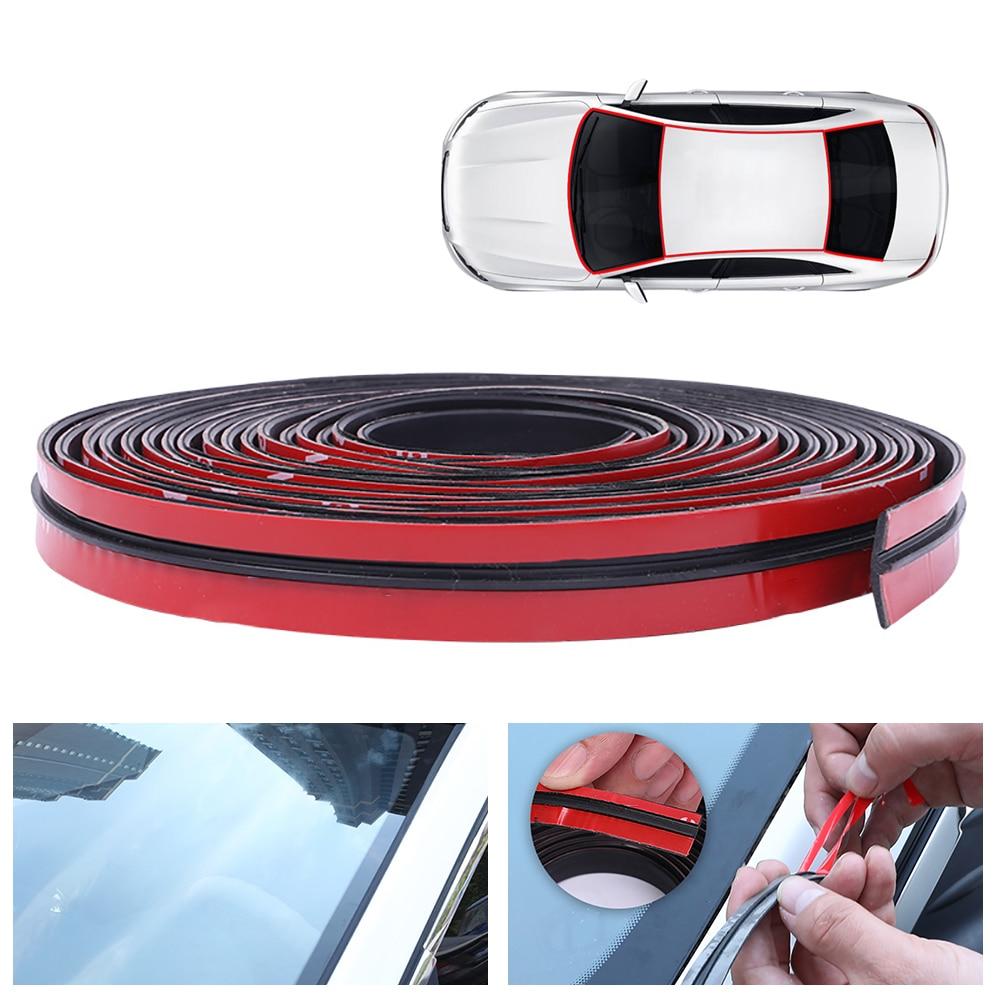 Резиновое уплотнение для автомобильной двери, 2-6 метров, герметик для автомобильной крыши, уплотнительная лента для автомобиля, звукоизоля...