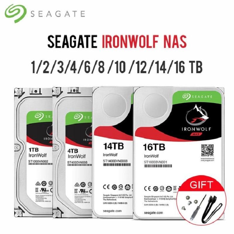سيجيت IronWolf SATA3 HDD واجهة 64MB-128MB-256MB مخبأ 6 جيجابايت/ثانية 5900RPM-7200RPM 3.5
