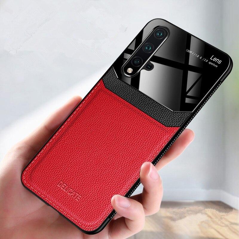 Funda de teléfono para Huawei Nova 5T funda de lujo parachoques de alta calidad PU Funda de cuero para Huawei Honor 20 Honor20 Nova 5 t funda