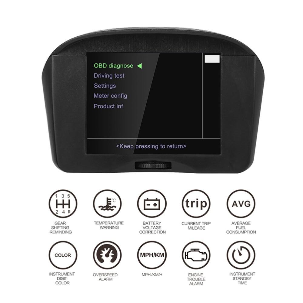 Autool x50 mais carro obd hud cabeça up display multi-função inteligente medidor de temperatura digital alarme código falha tensão velocidade