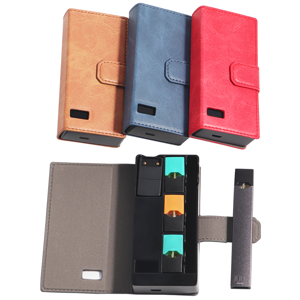 SHIODOKI 1200 мАч кожаный блок зарядного устройства для Juul зарядный чехол держатель для хранения со светодиодным индикатором Магнитный чехол