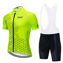 Conjunto de Jersey de Ciclismo para hombre 2019 Pro equipo Nw transpirable Ropa de Ciclismo de bicicleta de montaña