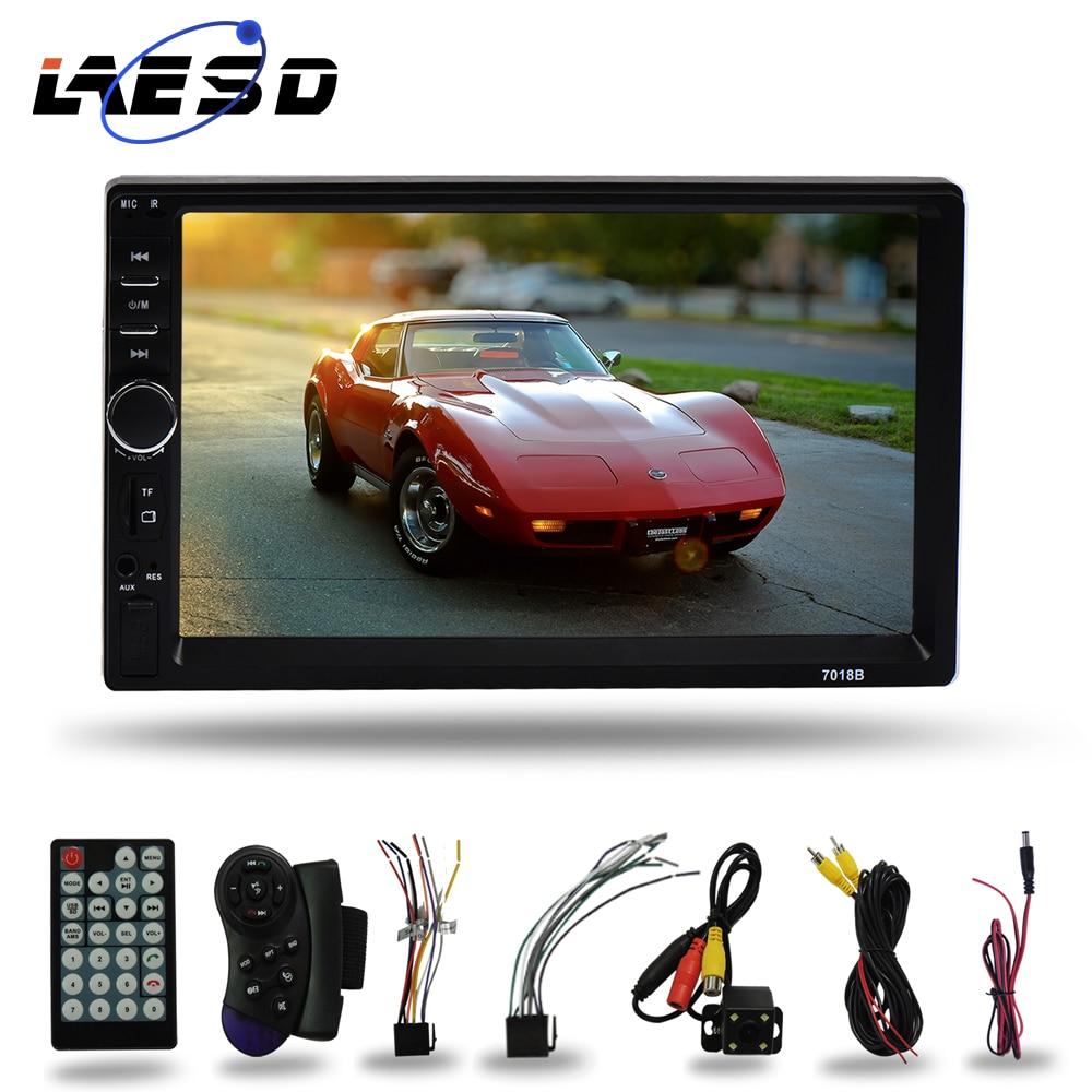 Radio para coche LAESD 7018b 2Din, pantalla táctil, sistema de Audio estéreo para coche, Audio para coche 2 Din, MP4, MP5, reproductor de vídeo Multimedia, Autoradio
