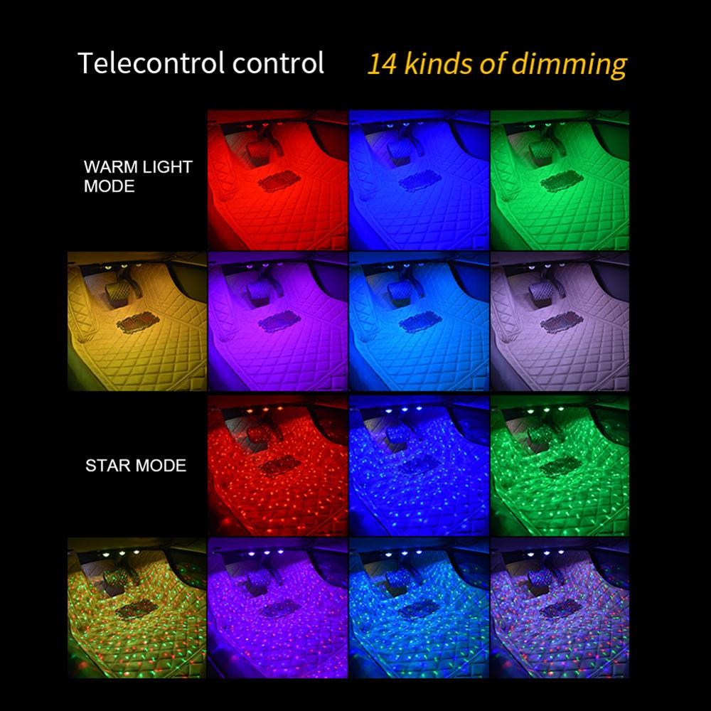 7 видов цветов атмосфера Galaxy светодиодные лампы, устанавливаемый на крыше автомобиля Sky Star ночник ProjectorUSB декоративные настольные лампы Регу...
