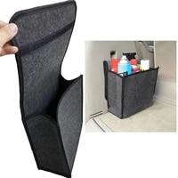 soft woolen felt car trunk organizer 301629cm car storage box bag fireproof stowing tidying package blanket tool