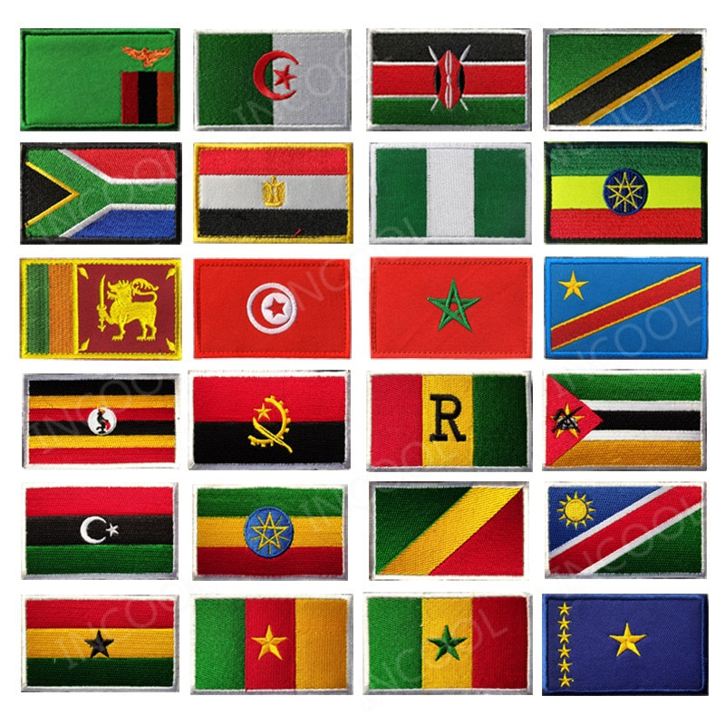 Африканский флаг, Египет, Кения, Нигерия, Ангола, туника, Марокко, Судана, Мальты, флаги, вышитые патчи-эмблемы, Аппликации, 3D значки