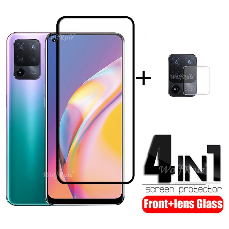 4-in-1 For OPPO Reno 5 Lite Glass For Reno 5 Lite Tempered Glass HD Full Protective Screen Protector For Reno 5 Lite Lens Glass