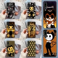 game bendy cartoon phone case for huawei p mate p10 p20 p30 p40 10 20 smart z pro lite 2019 black soft hoesjes silicone