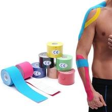 KoKossi-Cinta de kinesiología de una pieza, vendaje muscular deportivo de algodón, cinta adhesiva elástica para lesiones por tensión, alivio del dolor muscular de rodilla