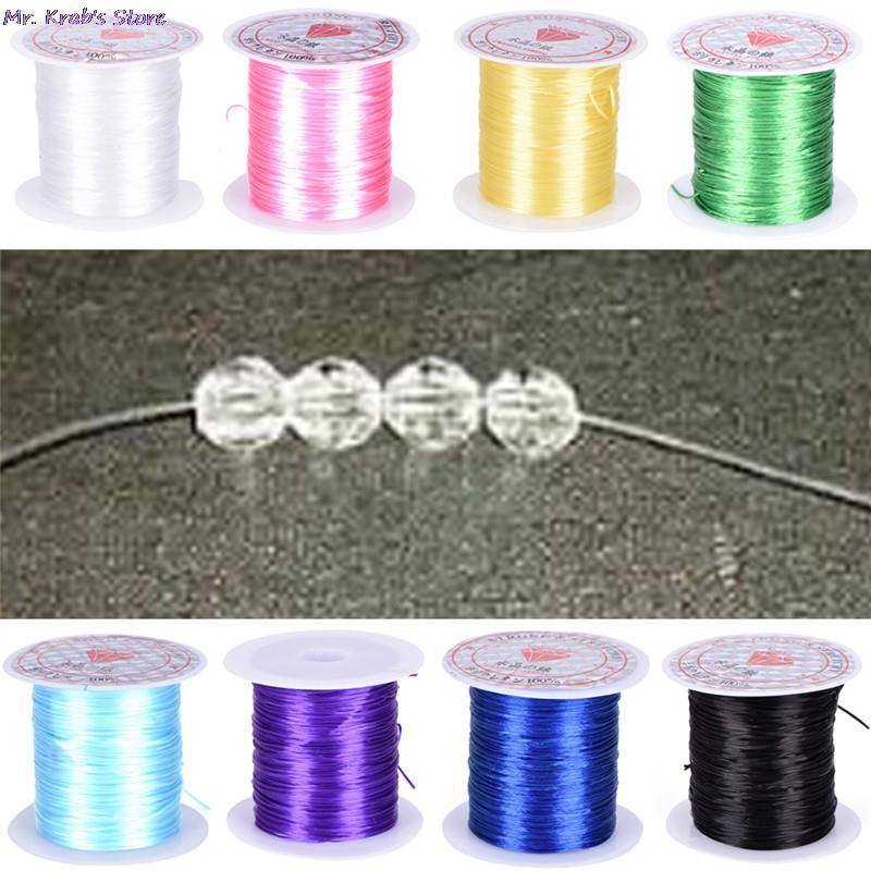 Round Beading Wire/Cord/String/Thread Jewelry Making 0.8mm DIY Crystal Bead Cord Elastic Line Transparen Clear Component