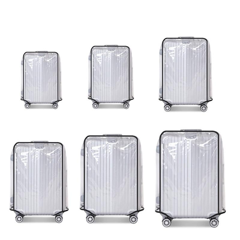 "Universal 20 ""/22""/24 ""/26""/28 ""/30"" impermeable, cubierta protectora transparente para maleta, funda para maleta de viaje"