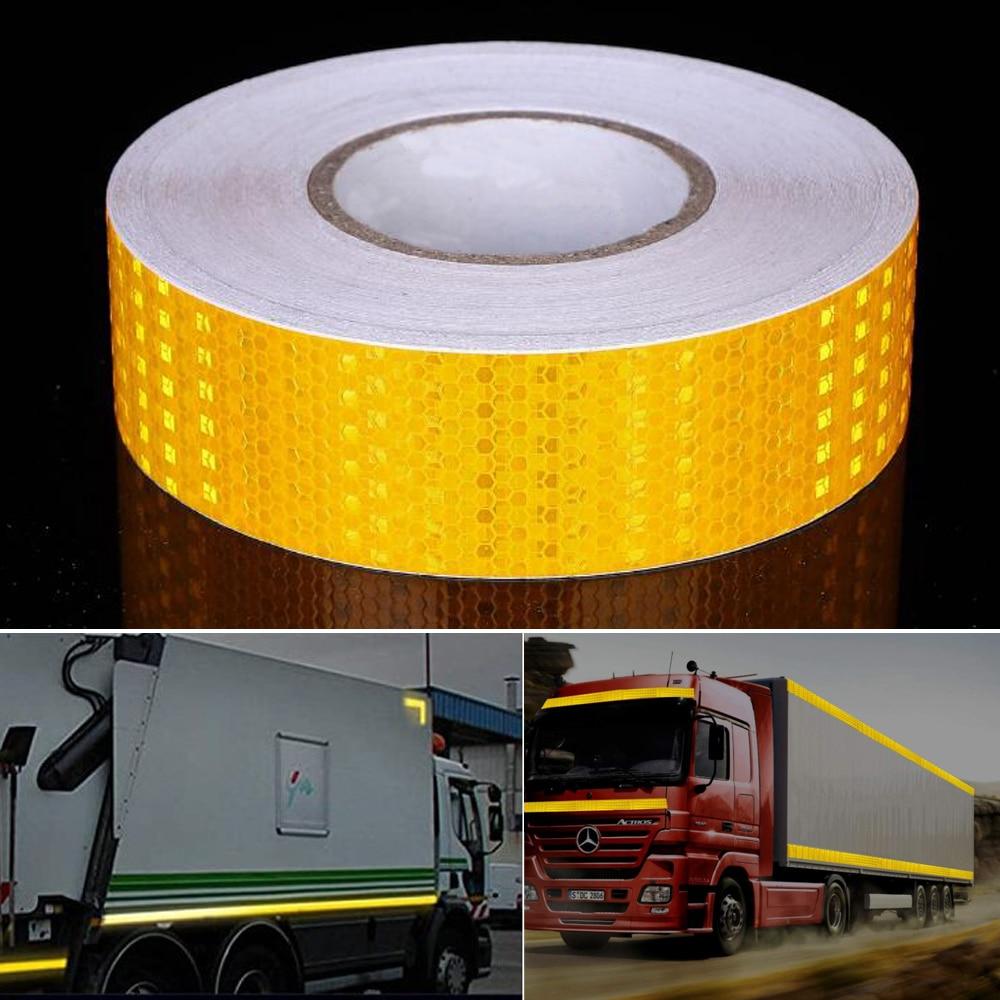 5cmx10m/Roll Car Reflective Tape Safety Warning Decoration Sticker