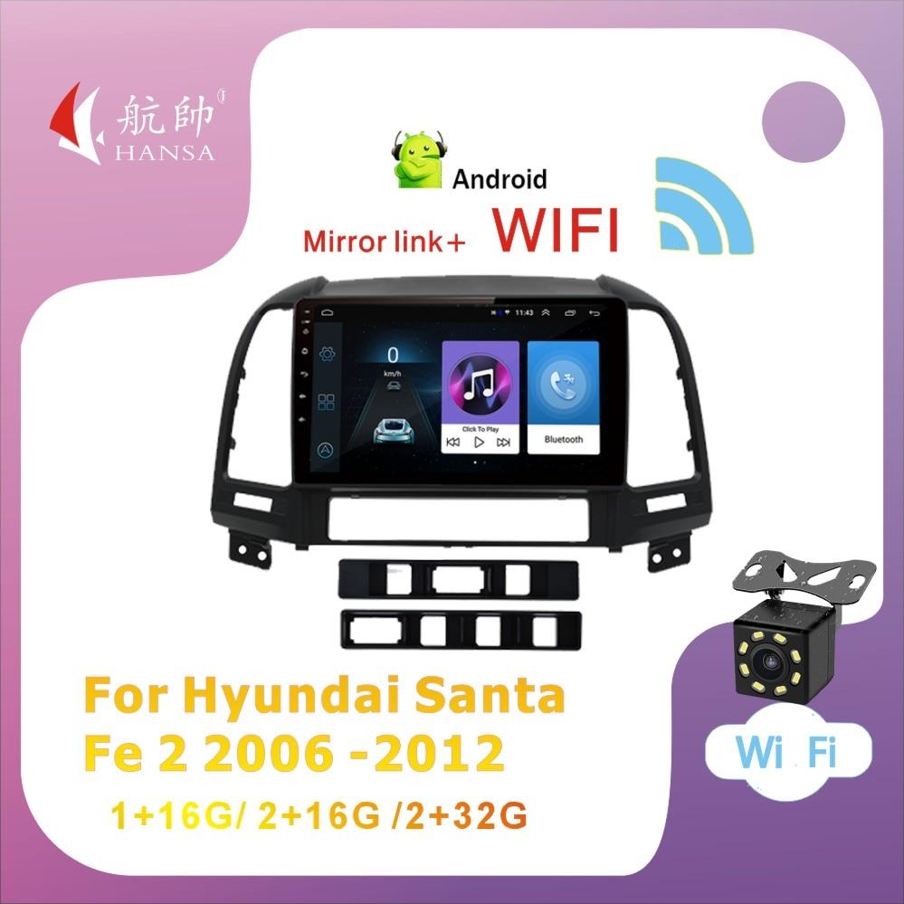 Фото - Автомагнитола на Android 10 DSP, мультимедийный плеер для Hyundai Santa Fe 2 2006 2007 2008 2009-2012, навигация 2 din с Wi-Fi, без dvd автомагнитола jmcq 2 din android 10 для renault megane 2 2002 2009 мультимедийный видеопроигрыватель с сенсорным экраном gps rds dvd