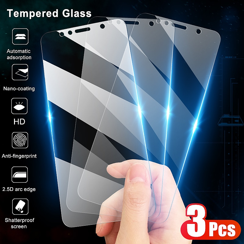 3Pcs Tempered Glass For Huawei Honor 7A 7C 7S 7X Screen Protector Glass on the Honor 9X 8X 8S 8A 8C