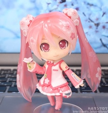 Anime rose Sakura Miku mignon PVC figurine Collection modèle jouets