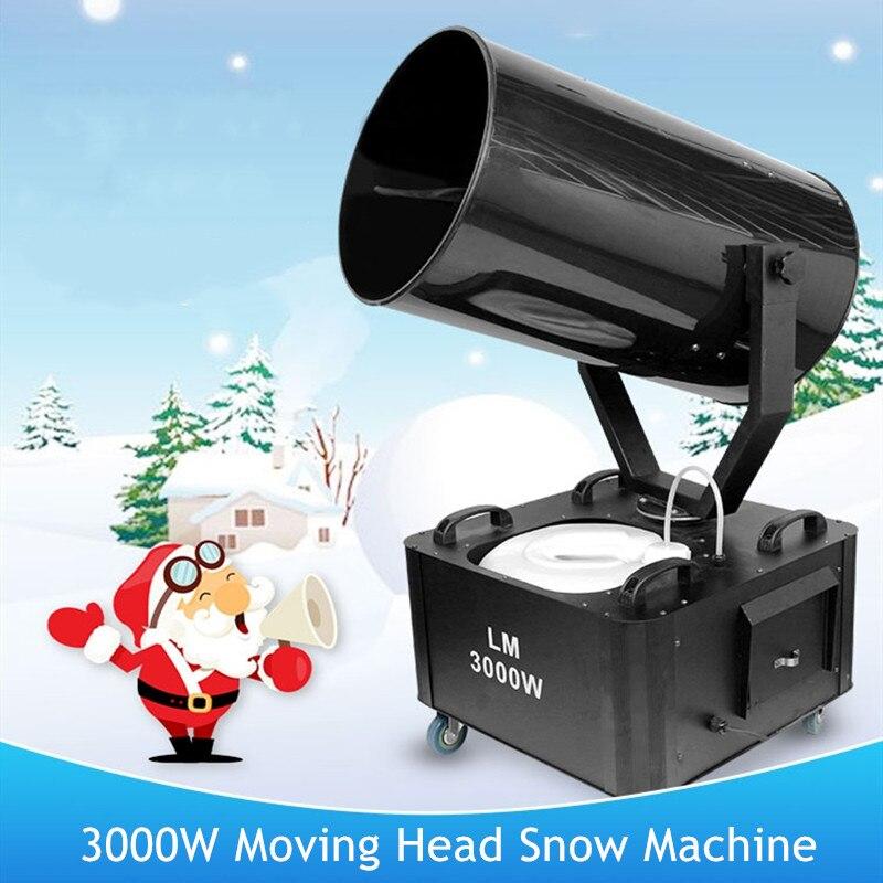 LED 3000 واط تهز رئيس آلة الثلج مرحلة عالية الطاقة الثلوج ماكينة عيد الميلاد الثلوج تهب جو عرض الحفلات