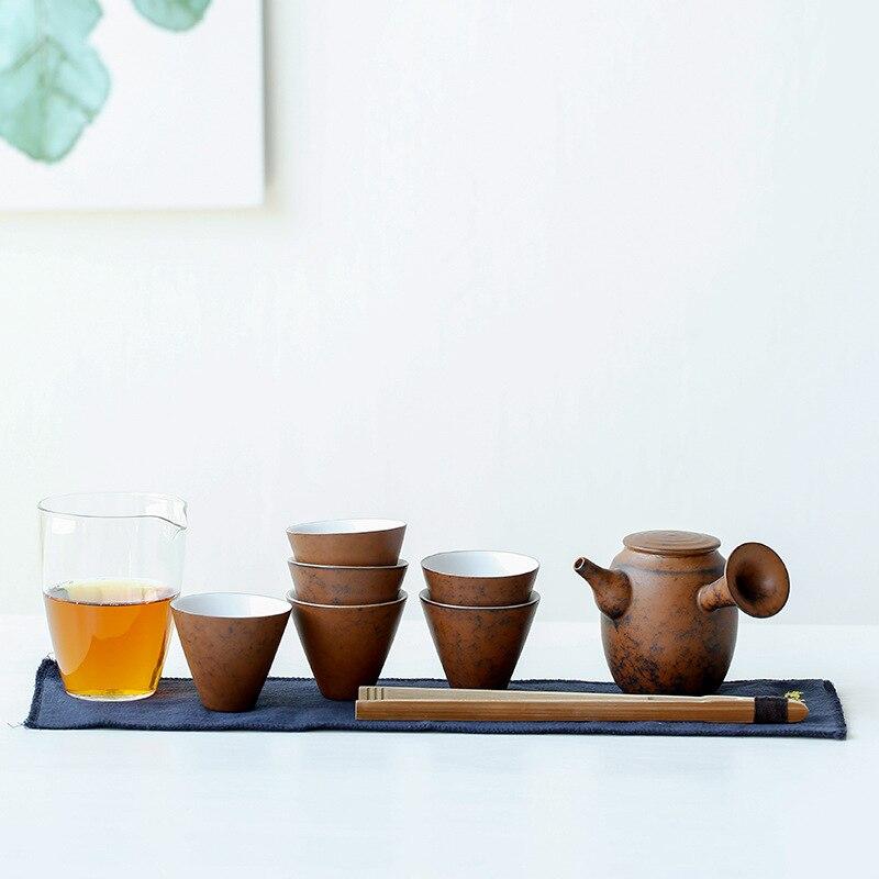 Japanese Earthenware Tea Set Ceramic Kung Fu Tea Gift Box Packaging Porcelana Tea Sets Ceramic Tea Set Tea Ceremony Teaware