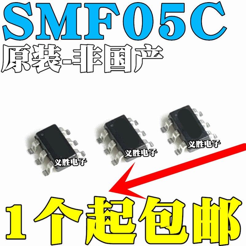 Oryginalny nowy 20 sztuk/SMF05CT1G SMF05C.TCT 5C SOT363