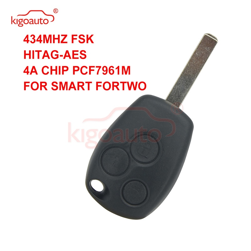 Kigoauto mando a distancia 3 botones 434Mhz VA6 blade 4A chip para nuevo Smart 2015 2016