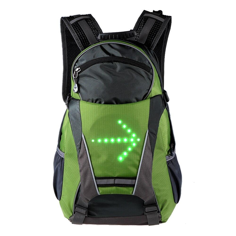حقيبة ظهر للدراجة ، عاكسة ، 18 لتر ، LED ، للسلامة في الهواء الطلق ، ركوب الدراجات ، الجري ، التخييم