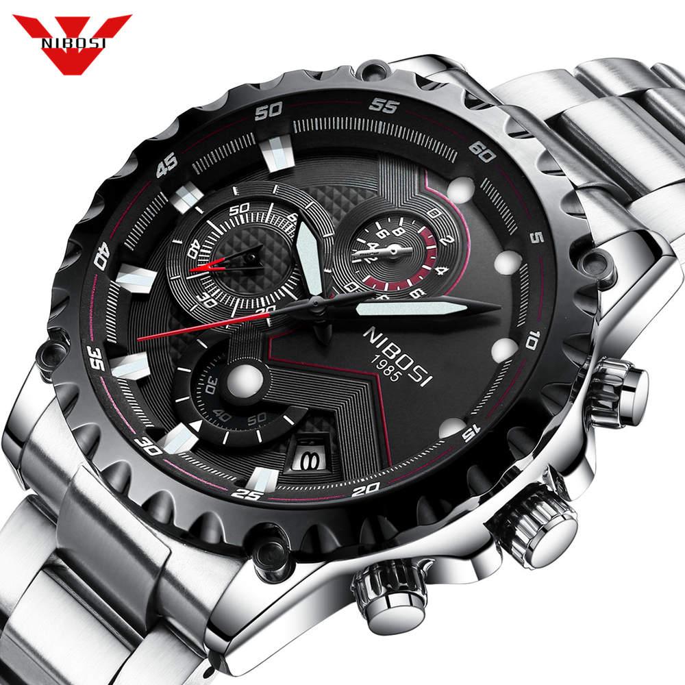 Relojes NIBOSI para hombre, de lujo, de marca superior, reloj deportivo militar para hombre, reloj informal de cuarzo resistente al agua, reloj Masculino