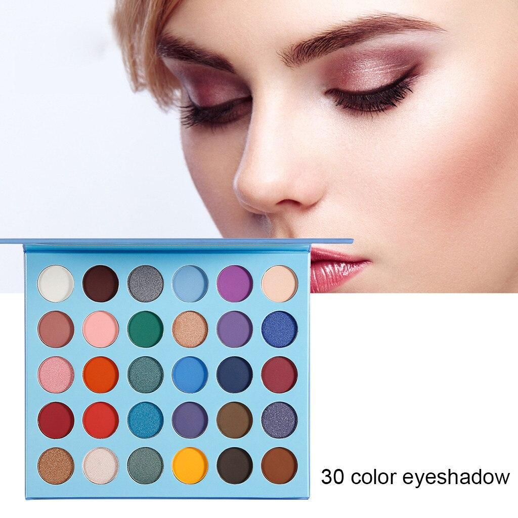 Paleta de sombra de ojos belleza esmaltada 30 colores sombra de ojos polvo mate Gleam Natural larga duración impermeable D301122