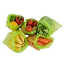 20pcs Green Storage Bags Food Fresh Cling Film Green Bag Fruit Vegetable Storage Bag Kitchen Environmental Protection Gadgets