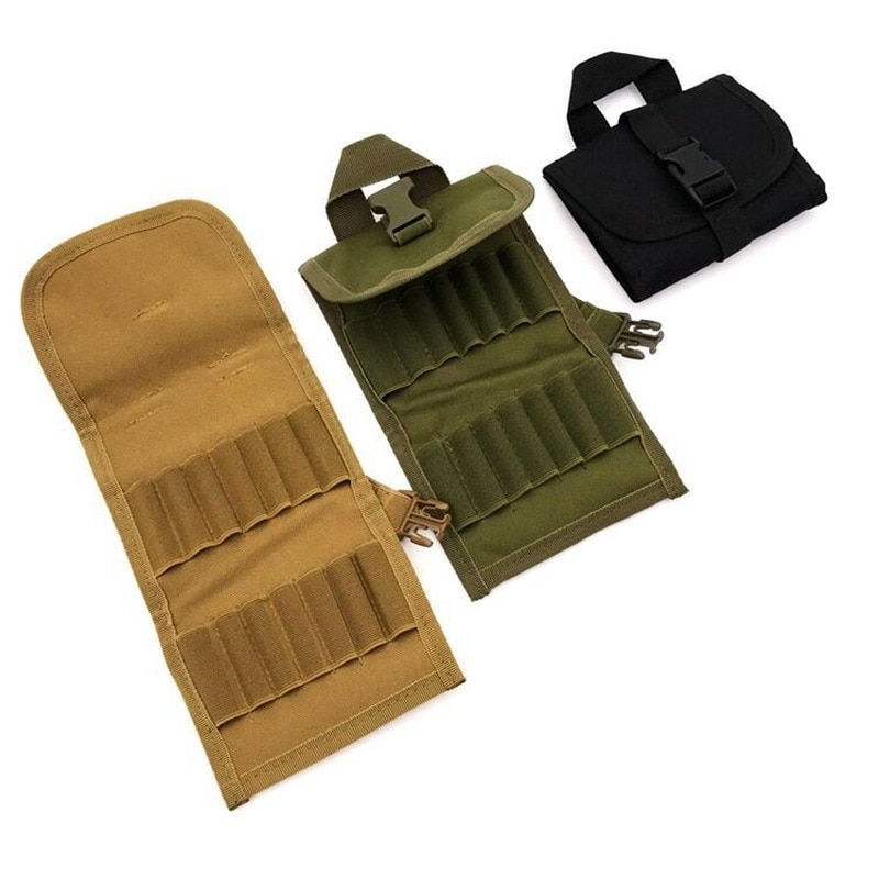 Tactical MOLLE Cartridge Ammo Pouch Portable Bullet Bag Foldable Ammunition Package New Multi-function 14 Round Mini
