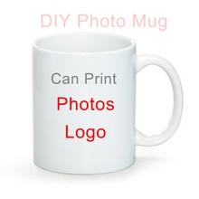 DIY Photo White ceramic mug,custom your photo on Tea cup,Creative gifts for Lovers Friends Family,coffee mugs Drinkware