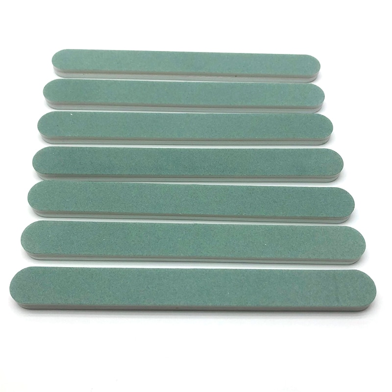 50pcs White Green Double Sided Long Nail Buffer 600/3000 UV Gel Buffing Nail File Sanding lime a ongle Care Tools Accessories