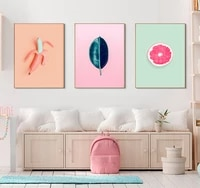 Affiches de peinture sur toile  plantes de fruits frais  fleurs dananas  Cactus  tableau dart mural pour decoration de salon  decoration de maison