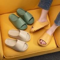 couple home soft slippers thick sole non slip eva indoor shoes flat slides men women beach ourdoor light flip flops plus size 45