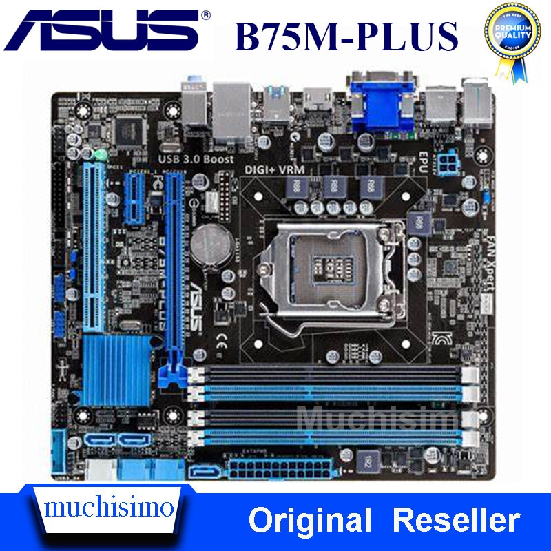 Review ASUS B75M-PLUS Motherboard for Intel LGA 1155 DDR3 Intel B75 Original Boards 32GB USB2.0 USB3.0 Mainboard Desktop Used Tested
