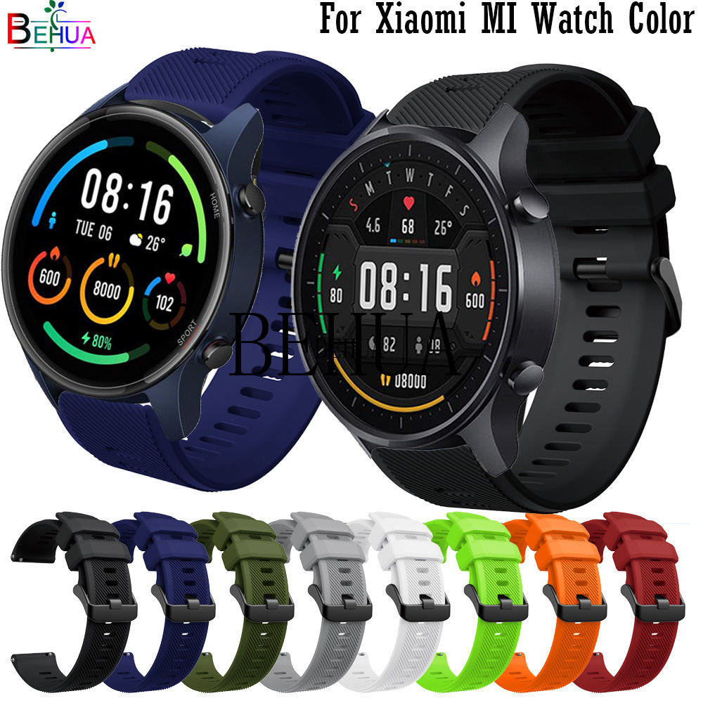Correa de silicona para reloj inteligente Xiaomi MI, pulsera deportiva de Color...