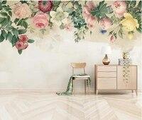 ainyoousem modern minimalist rose flower background wall papier peint papel de parede wallpaper 3d wallpaper stickers