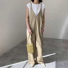 Summer 2021 New Japanese Style Temperament Loose Casual Jumpsuit Fashion Simplicity Solid Color Over
