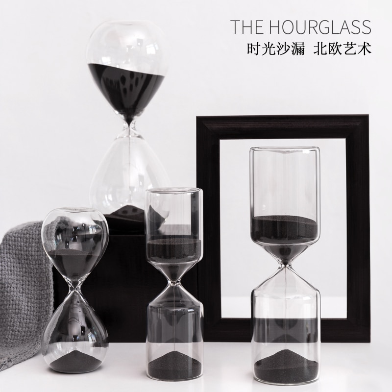Hourglass Timer 60/30/15/10/5 minutes Creative Home Decoration Living Room Office Study Room Cafe Restaurant Desktop Display Set