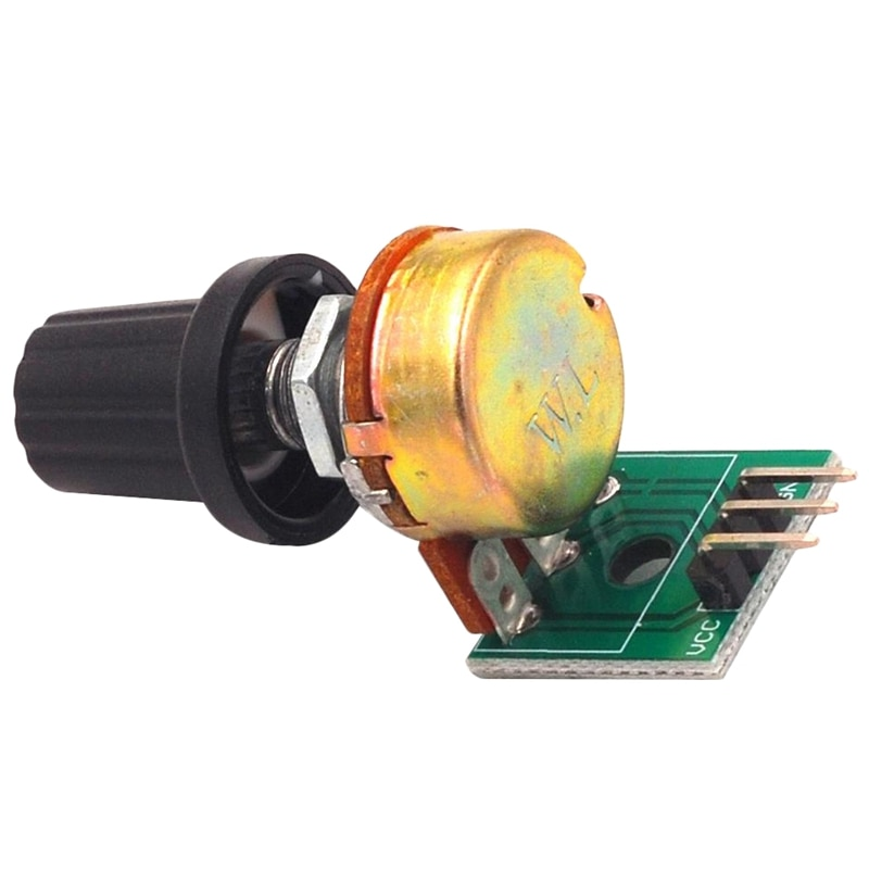 Módulo de potenciómetro de resistencia de FULL-10K, módulo de resistencia ajustable, solo giro, salida analógica ajustable de 0-5V