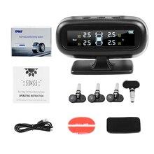Vstm Solar Tpms Auto Bandenspanning Alarm Monitor Systeem Display Intelligente Temperatuur Waarschuwing Met 4 Sensoren Lcd Display