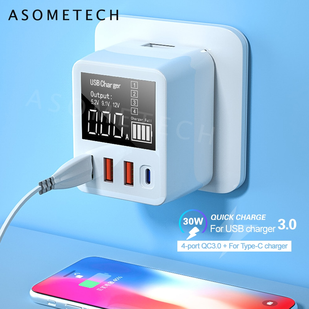 aliexpress - 30/40W Quick Charge QC3.0 USB Charger Wall Travel Mobile Phone Adapter Fast Charger USB Charger For iPhone Xiaomi Huawei Samsung