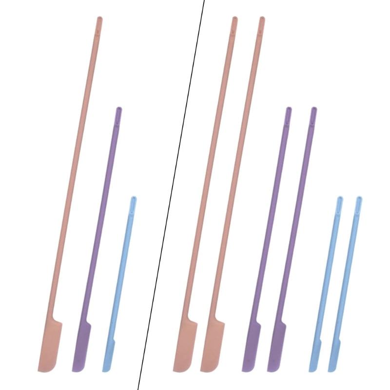 3, 6 штук в партии, многоразовые эпоксидная смола силиконовый Stir Sticks смешивания смолы Краски жидкость для лица макияж помешивая стержни инст...