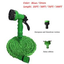 25FT-175FT Flexible Garden Hose Pipe Telescopic Water Hose With Spray Gun Imitation Silicone Garden Hose irrigation Water Hose