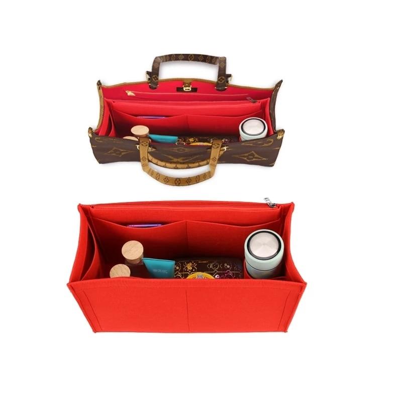 Felt Cloth Insert Speedy Bag Organizer for Handbag Cosmetic Bag Makeup Organizer Travel Inner Purse