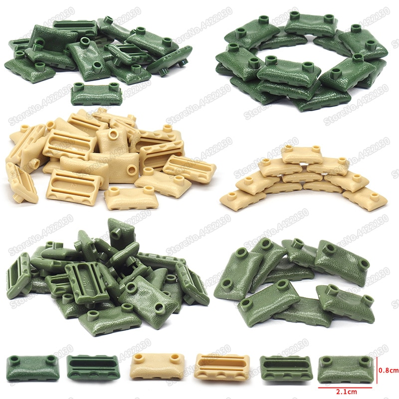 Bolsas de arena bloques de construcción militares lote ejército dedicado Fuerzas Especiales conjunto Región fortaleza figuras armas Moc juguetes de Navidad