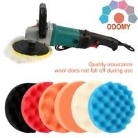 6inch8pcscar polishing disc car polishing disc waxing buffing sponge pad polishing rubbing ruber scouring pad buffing waxing