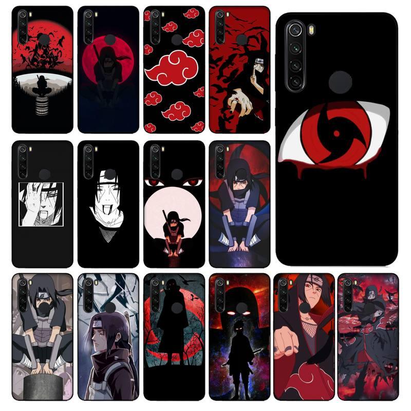 Yinuoda Anime Naruto Itachi Bling Cute Phone Case for Xiaomi Redmi 5plus 5A 6 6A 7 7A Note 7 8 8T 8P