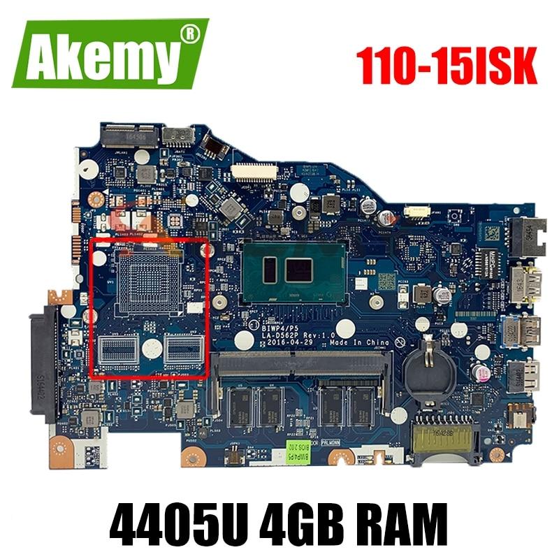 Placa base para Lenovo 110-15ISK Notebook BIWP4 / P5 LA-D562P CPU Pentium...