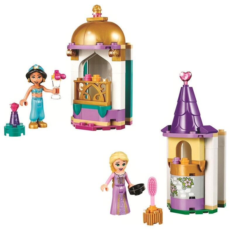 Princesa Rapunzels Jasmines Petite Tower Kit de bloques de construcción ladrillos clásicos amigos chica modelo niños juguetes para niños regalo