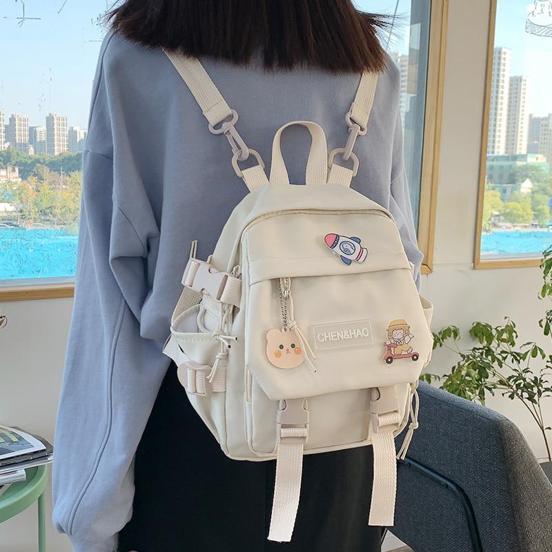 حقيبة ظهر صغيرة للفتيات الصغيرات ، حقيبة مدرسية من النايلون المقاوم للماء ، أزياء يابانية غير رسمية للفتيات الصغيرات